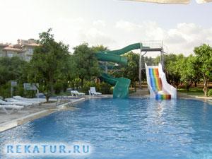 Водные горки отеля Alara Hotel