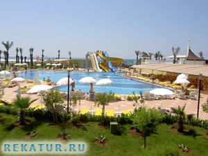 Водные горки отеля Belek Beach Resort