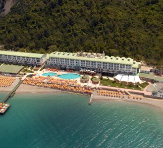 Пляж отеля Yelken Blue Life Hotel