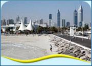 Популярные пляжи в Эмиратах.