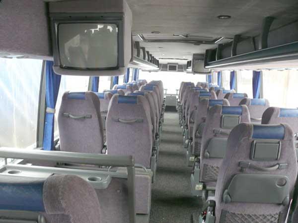 Салон автобуса на втором этаже