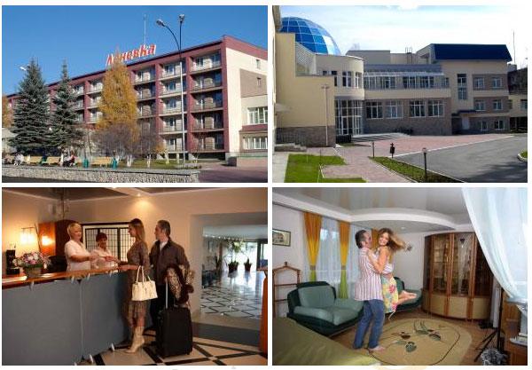 Номера и холл в санатории Леневка